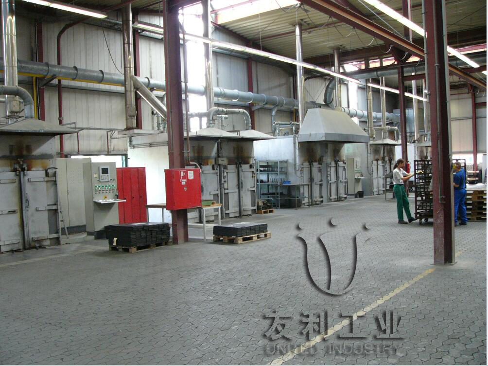 Friction material curing furnace
