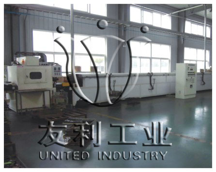 Special curing production line for friction materials