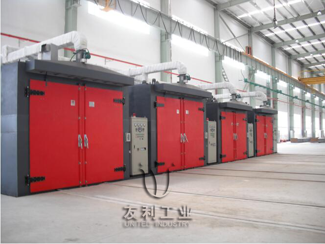 Motor lacquer oven