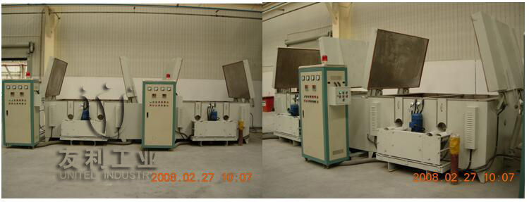 Motor rotary curing furnace
